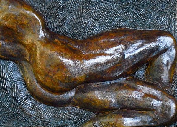 Male Nude Relief Sculpture - Male Dancer In Repose by Dan Earle