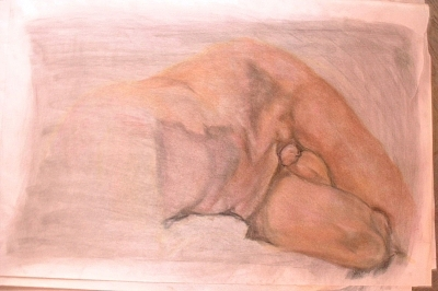 Male Nude Drawing - Male Nude 16 by Ladonna Idell