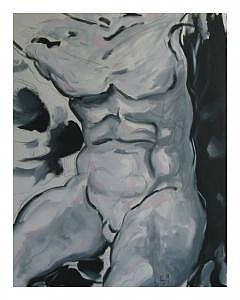 Male Nude Painting - Male Nude by Carlos  Bottelho