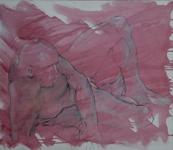 Nude Painting - Male Nude by Patrick Dalli