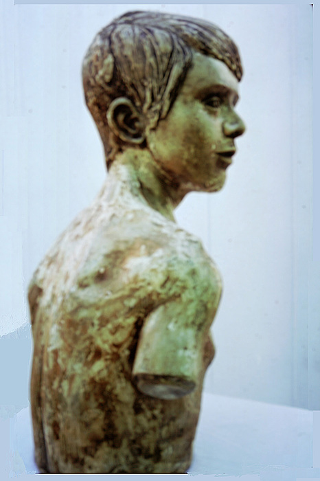 Human Figure Sculptures Sculpture - Male Youth by Sarah Biondo