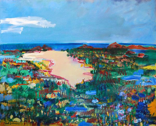 Marsh Painting - Malibu Marshes by Zolita Sverdlove
