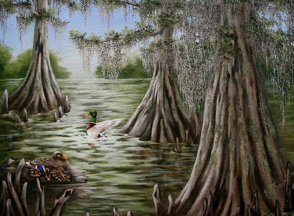 Mallards Painting - Mallards by Ruth Bares