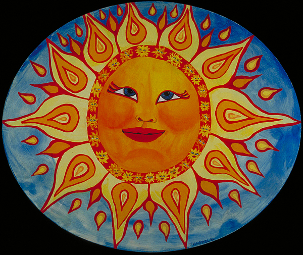 Sun Painting - Mama Sun by J Andrel
