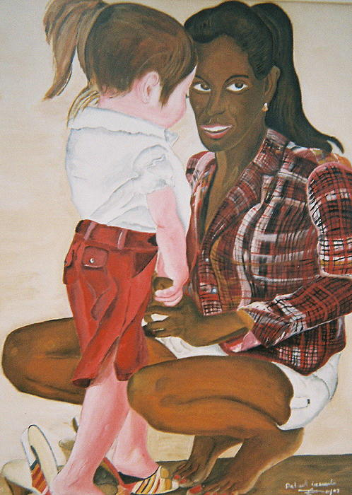 Figure Painting - Mami Sandal by Desenclos Patrick