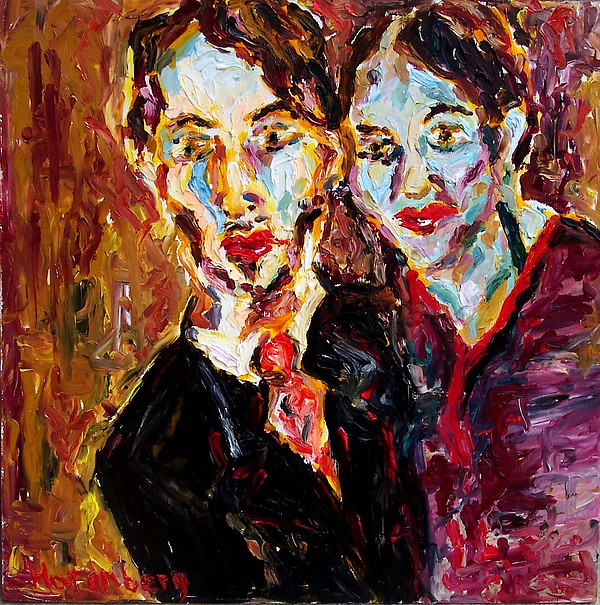 Man Painting - Man And Woman by R Harenberg