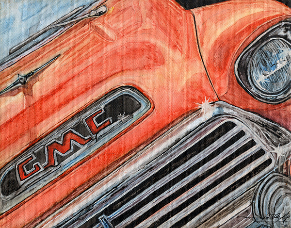 Truck Painting - Man Cave #1 by Jason McKeel
