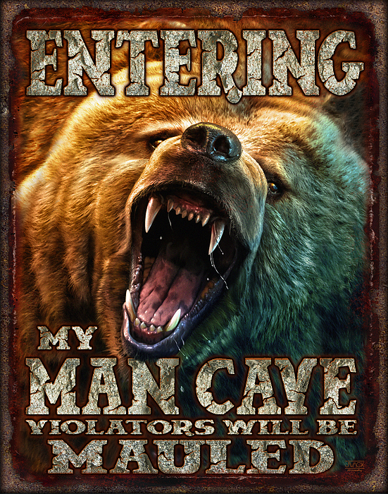 Man Cave Painting - Man Cave by JQ Licensing