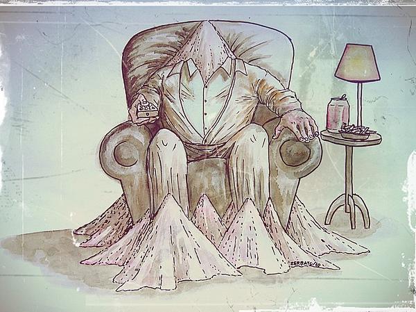 Man Digital Art - Man Deteriorating by Paulo Zerbato