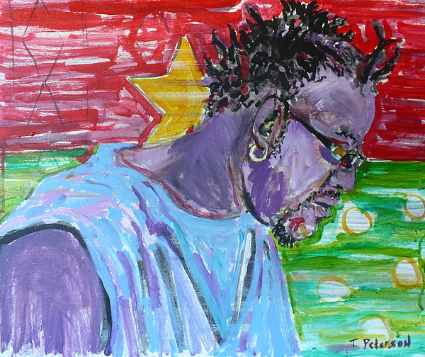 Acrylic Painting - Man From Burkina Faso by Todd  Peterson