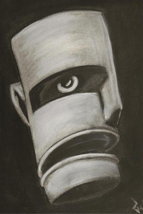 Black And White Drawing - Man In Closet 2 by Rick Stoesz