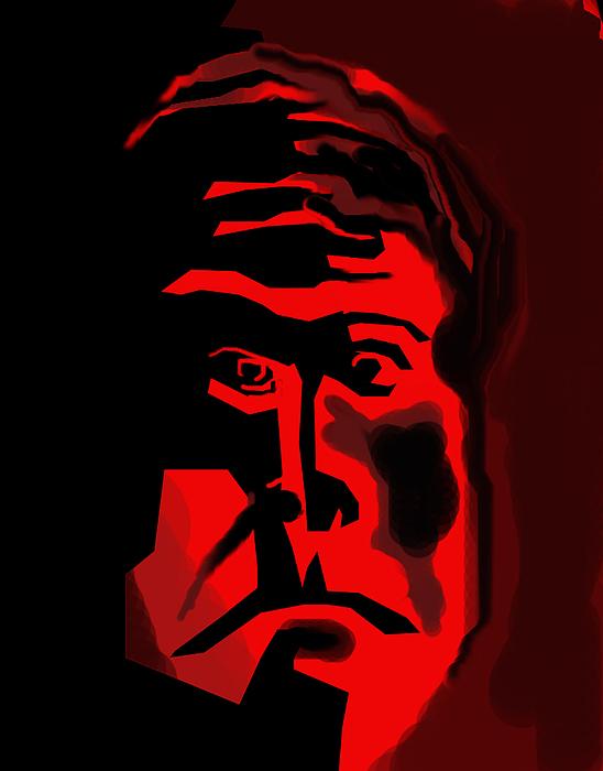 Man In Red Digital Art by Carlos Contreras