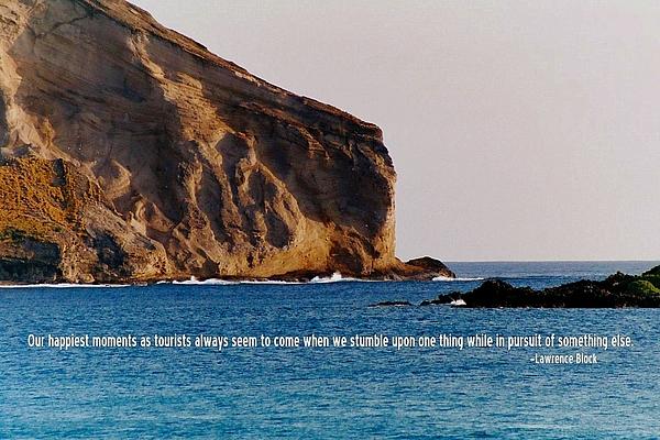 Hawaii Photograph - Manana Rabbit Island Quote by JAMART Photography