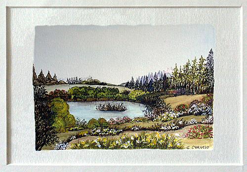 Landscape Painting - Mancha 4 by Margarida Curvelo