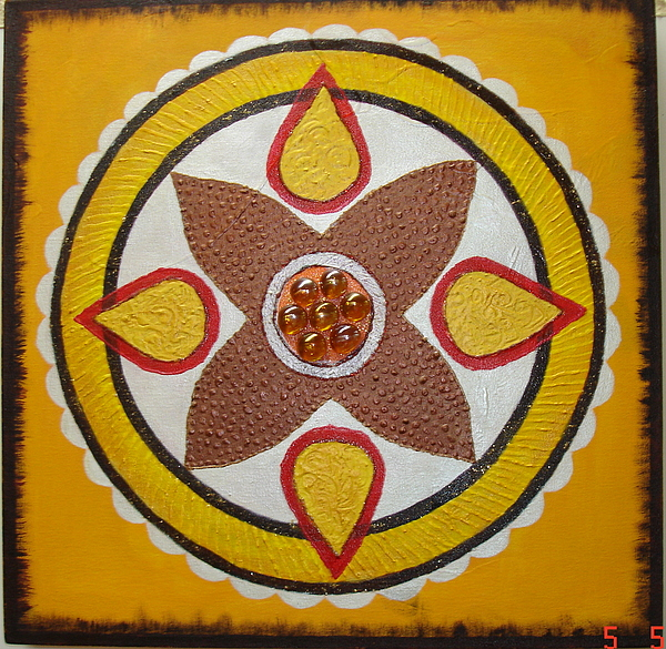 Mandala Painting - Mandala Com Pedra by Shanta Rathie