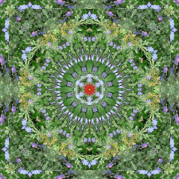 Mandala July 16 Digital Art by Allen Rybo