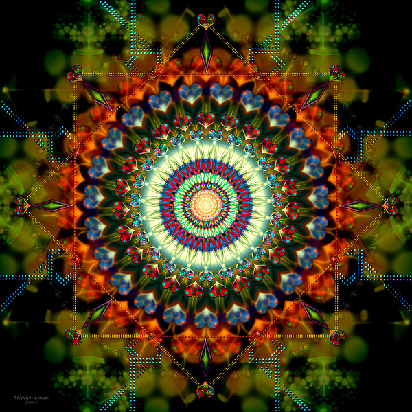 Mandala Digital Art - Mandala Of Loves Journey by Stephen Lucas