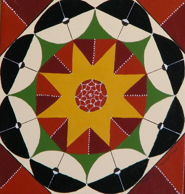 Mandala Painting - Mandala by Terry Honstead