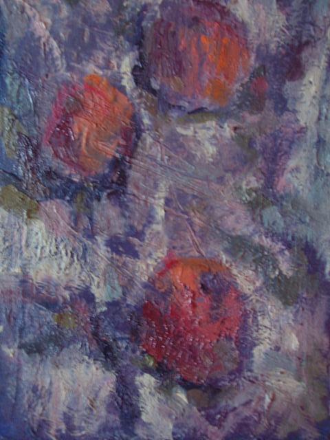 Naturmort Painting - Mandarins by L Turbazzi
