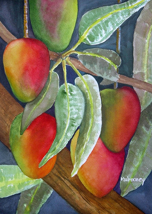 Tropical Fruit Painting - Mango One by Terry Arroyo Mulrooney