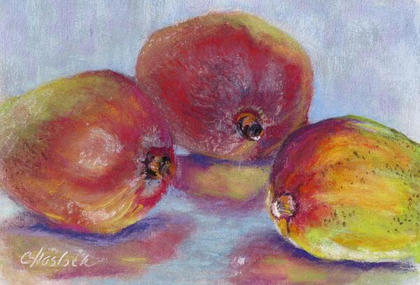 Stillife Pastel - Mangos by Carole Haslock
