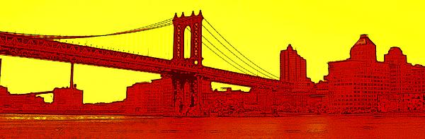Manhattan Bridge Photograph - Manhattan Bridge by Julie Lueders