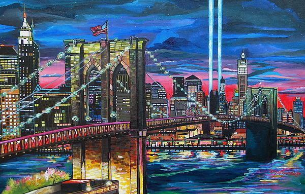Manhattan Painting - Manhattan Kinda Night by Patti Schermerhorn
