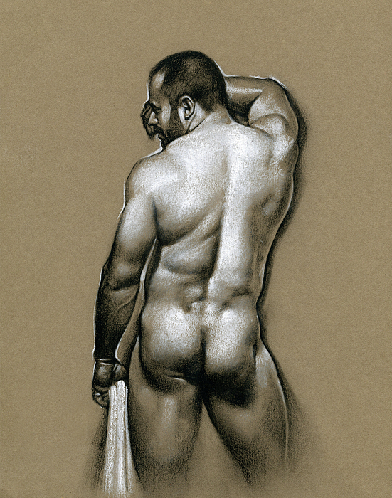 Male Drawing - Manolo by Chris Lopez