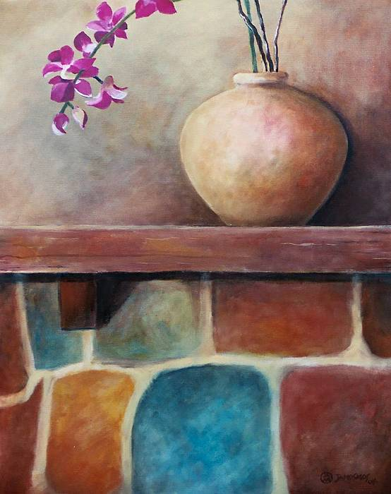 Mantel Painting - Mantel Beauty by Jun Jamosmos