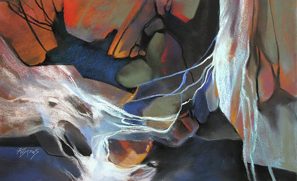 Abstract Painting - Mantled Epoch by Rae Andrews