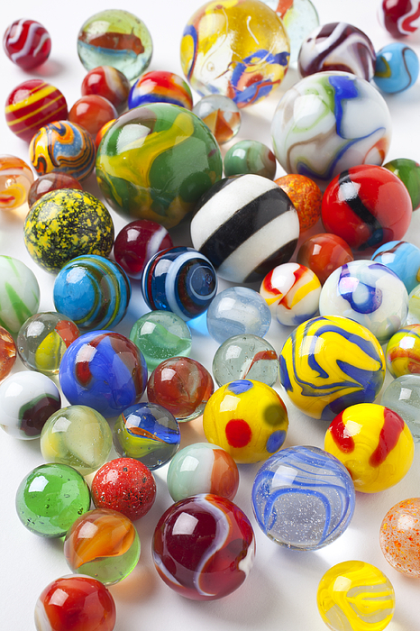 Marble Photograph - Many Beautiful Marbles by Garry Gay