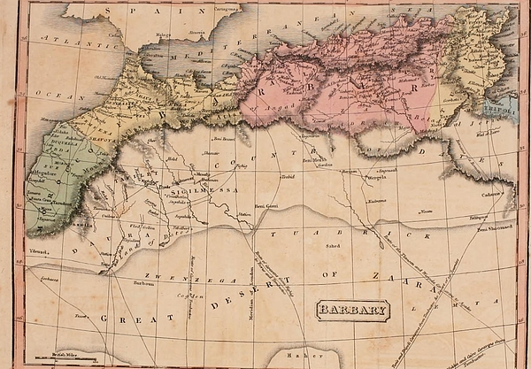 History Photograph - Map Of The Barbary States Of North by Everett