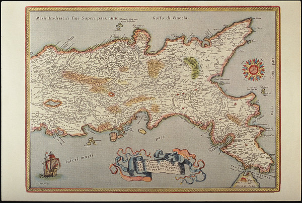 Horizontal Photograph - Map Of The Kingdom Of Naples by Fototeca Storica Nazionale