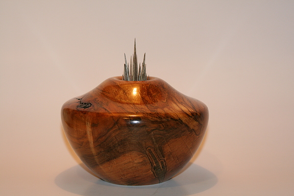 Wood Sculpture - Maple Touch-me-not 2 - Acer Impatiens by Shawn Roberts