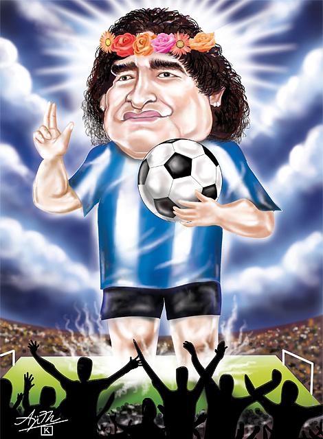 Maradona Digital Art by Ajith K