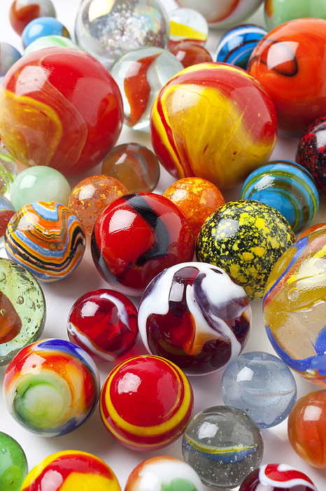 Marble Photograph - Marbles Close Up by Garry Gay