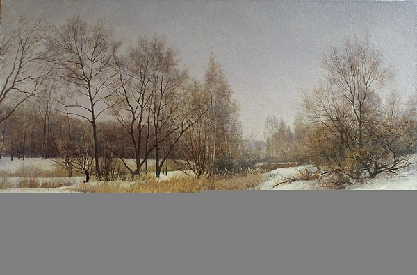 Landscape Painting - March by Andrey Soldatenko