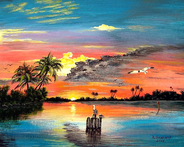 Marco Island Painting - Marco Island Study by Riley Geddings