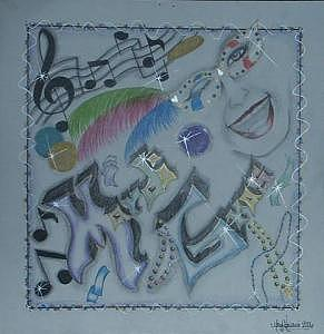 Mardi Gras Fever Drawing by Mary  Cipriani