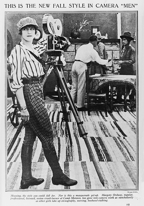 1910s Photograph - Margery Ordway, Woman Cinematographer by Everett