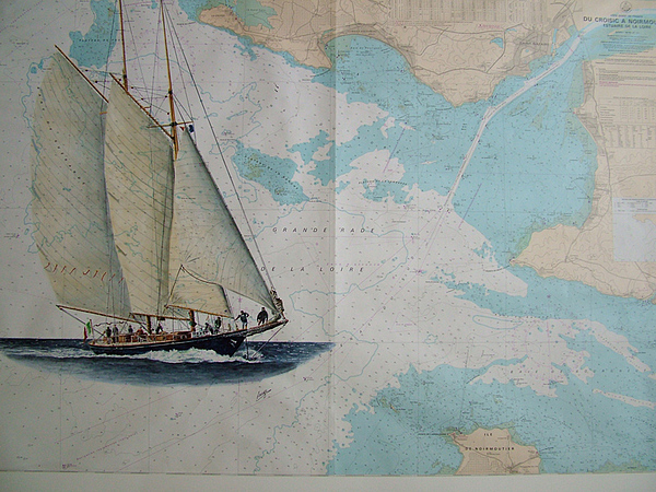 Boat Painting - Mariette by Patrice Large