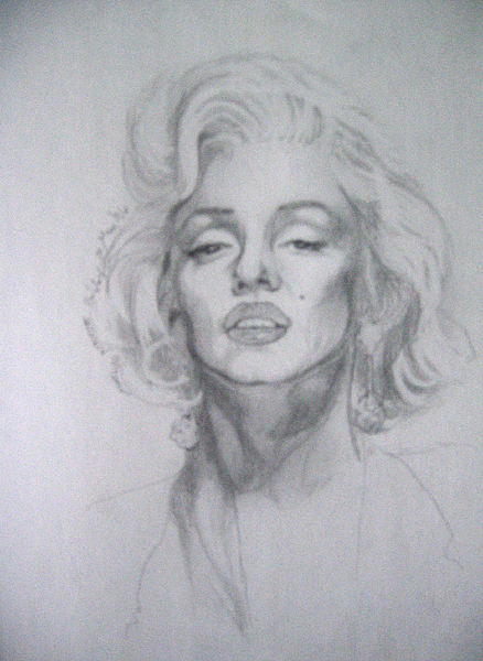 Figures Drawing - Marilyn by Bobby Barredo