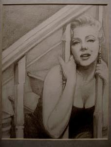 Marilyn Monroe Drawing - Marilyn by Janet Gioffre Harrington