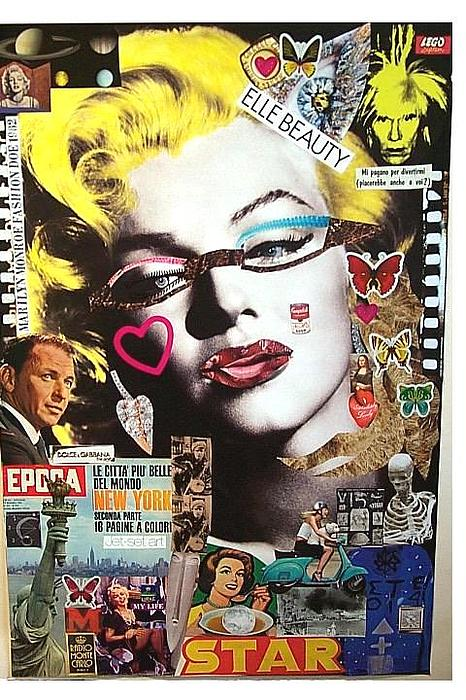 Marilyn Monroe 1962 2009 Refashioned Francesco Martin  Mixed Media - Marilyn Monroe Fashion Doe 1962 by Francesco Martin