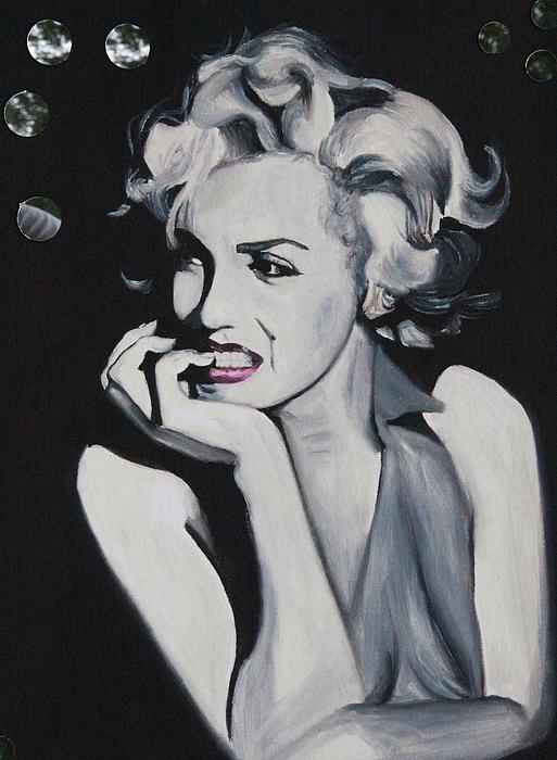 Monroe Painting - Marilyn Monroe Portrait by Mikayla Ziegler