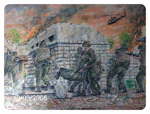 Military Drawing - Marines At Hue 1968 by James Beal