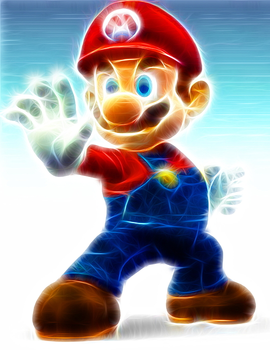 Mario Painting - Mario by Paul Van Scott