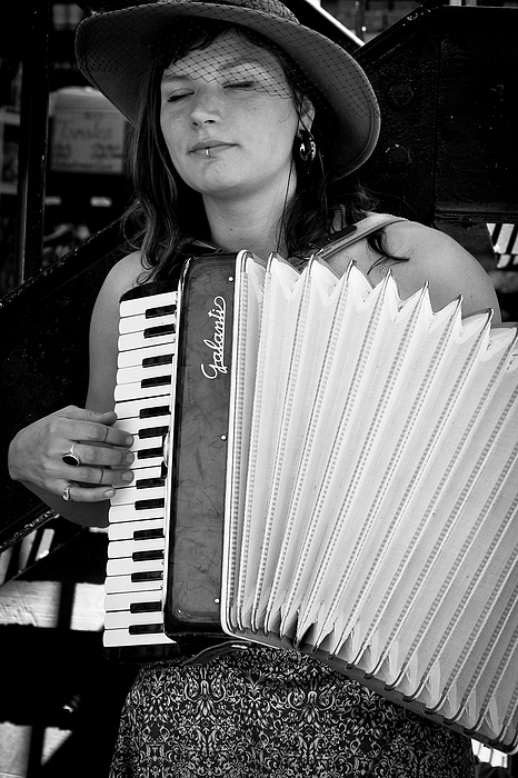 Accordion Photograph - Market Accordion Player by David Patterson