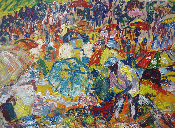 Paintings Painting - Market by Chibuzor Ejims