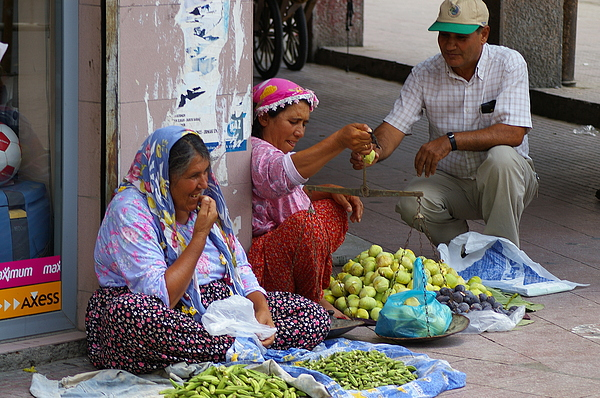 Turkish Photograph - Market Day by Don Prioleau